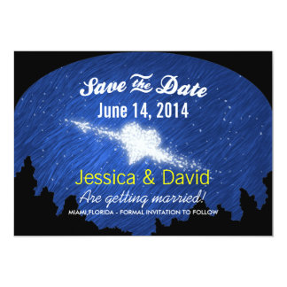 "Star Heart in the Starry Night Save the Date Cards 5"" X 7"" Invitation Card"
