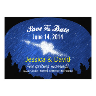 Star Heart in the Starry Night Save the Date Cards
