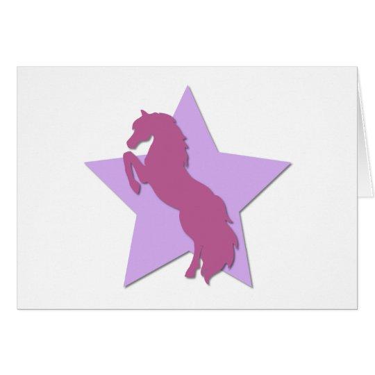 Star Horse Card