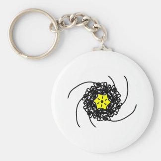 Star Illustration Basic Round Button Keychain