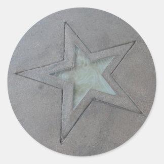 Star in Hollywood Round Sticker