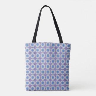 Star in the Clouds Mandala Design Tote Bag