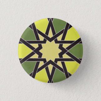 Star in the Heart of Sharjah: Cool Vintage Pattern 1 Inch Round Button