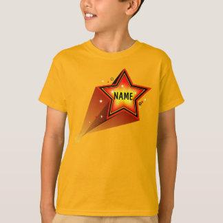 Star  Kids Custom Name Gold T-shirt