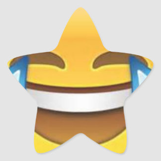 Star Laughing Emoji Star Sticker