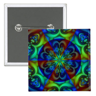 Star Light 2 Inch Square Button