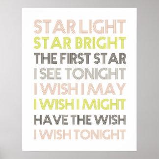 Star Light Star Bright Poster