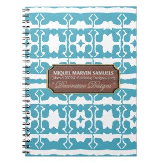 Star Line Decorative  White Baby Blue Notebook