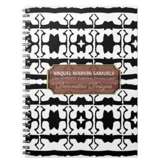 Star Line Decorative White Black Notebook