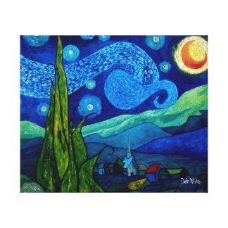 Star Lit Night Canvas Print