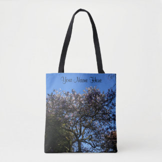 Star Magnolia All Over Print Tote Bag