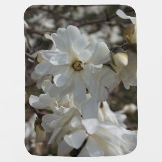 Star Magnolia Blooms Baby Blankets