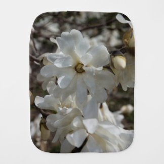 Star Magnolia Blooms Burp Cloth