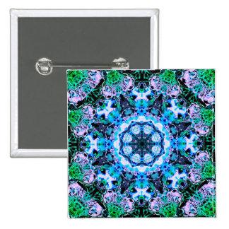 Star Mandala 2 Inch Square Button