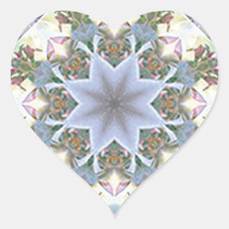 Star Mandala Heart Stickers