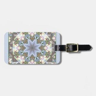 Star Mandala Lavender Luggage Tag