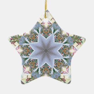 Star Mandala Ordament Ceramic Star Ornament