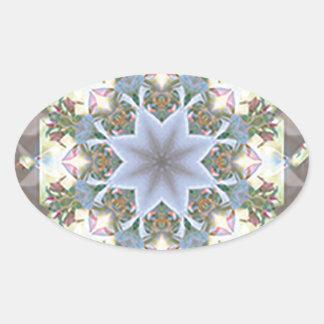 Star Mandala Oval Stickers