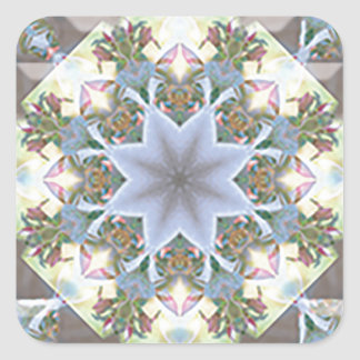 Star Mandala Square Sticker
