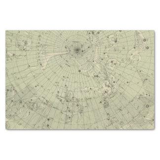 Star map of North polar region Tissue Paper