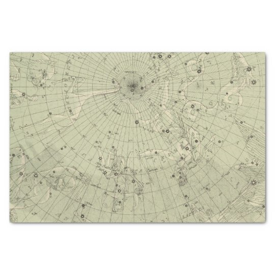 Star map of North polar region Tissue Paper