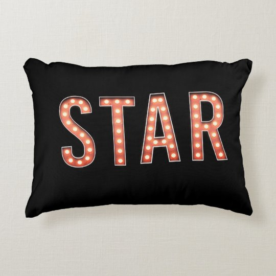 STAR Marquee Lights Accent Pillow