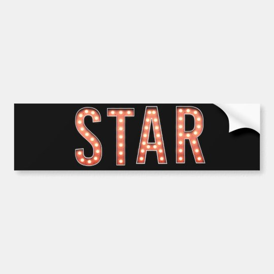 STAR Marquee Lights Bumper Sticker