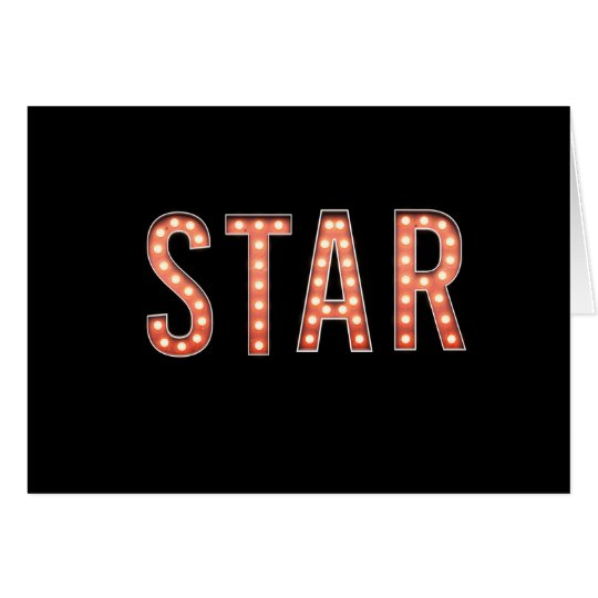 STAR Marquee Lights Card