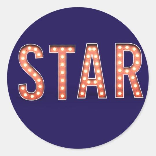 STAR Marquee Lights Classic Round Sticker