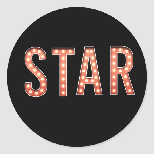 STAR Marquee Lights Classic Round Sticker