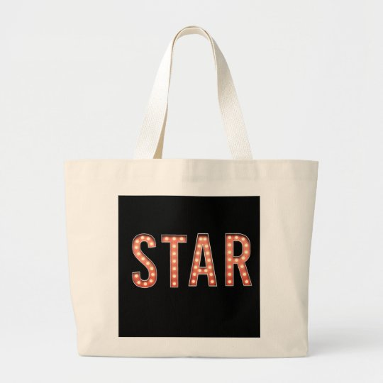 STAR Marquee Lights Large Tote Bag