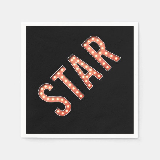 STAR Marquee Lights Napkin