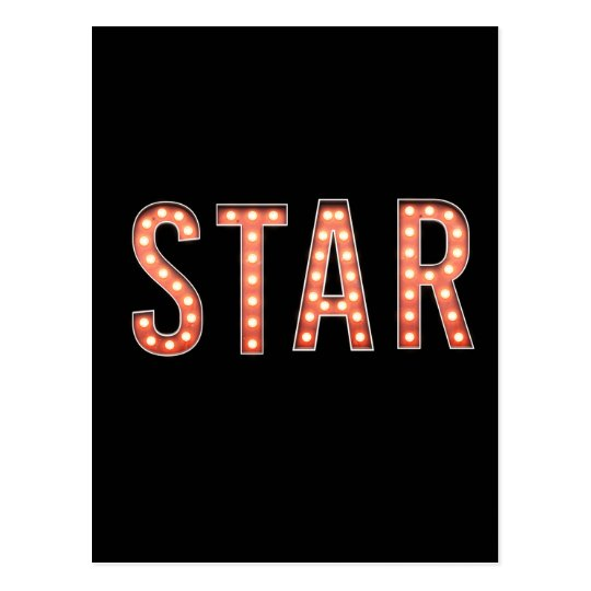 STAR Marquee Lights Postcard