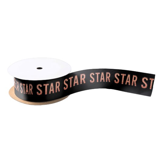 STAR Marquee Lights Satin Ribbon