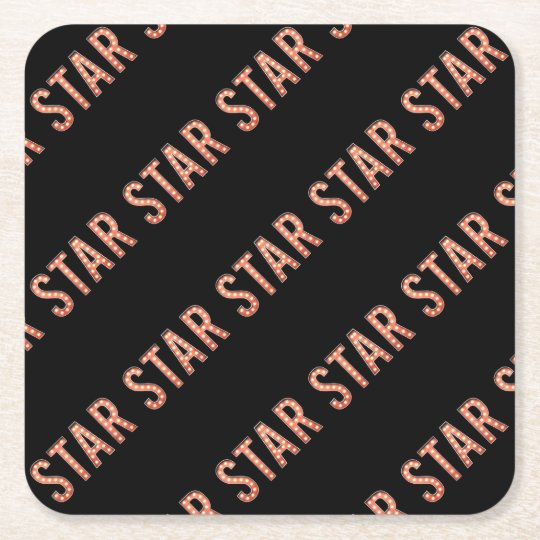 STAR Marquee Lights Square Paper Coaster