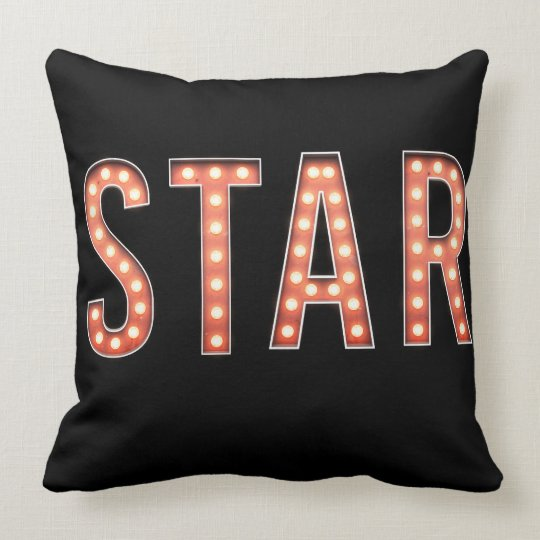 STAR Marquee Lights Throw Pillow