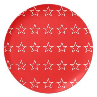 Star Melamine Plate