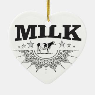 Star milk black cow ceramic ornament
