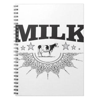 Star milk black cow notebook