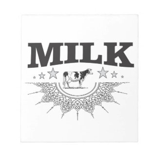 Star milk black cow notepad