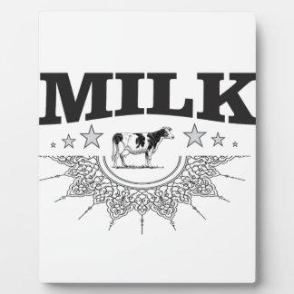 Star milk black cow plaque