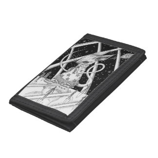 Star mouse tri-fold wallets