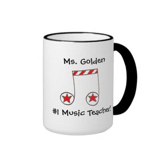 Star Musical Note Music Teacher Gift Coffee Mugs
