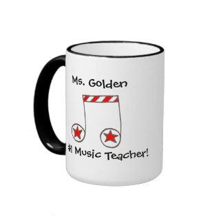 Star Musical Note Music Teacher Gift Ringer Mug