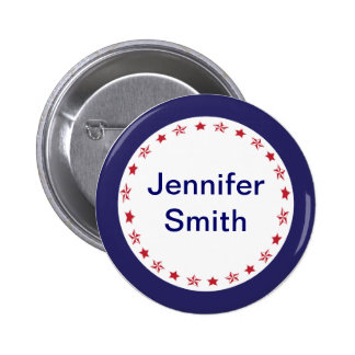 Star Name Badge 2 Inch Round Button