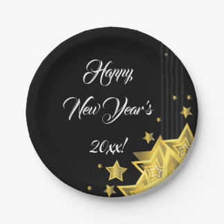 Star New Year's Eve Party | Paper Plate