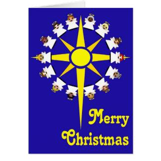 Star of Bethlehem & Angels Greeting Card