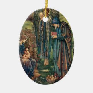 Star of Bethlehem Ceramic Oval Ornament