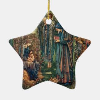 Star of Bethlehem Ceramic Star Ornament