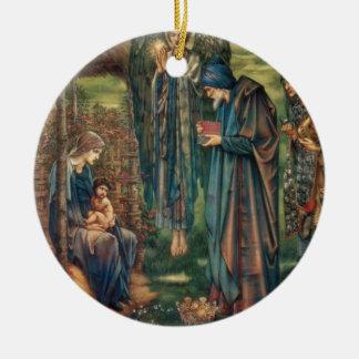 Star of Bethlehem Round Ceramic Ornament